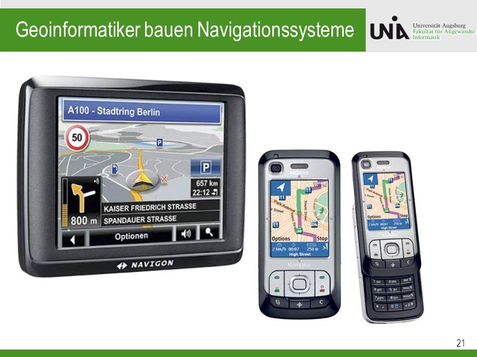 Geoinformatiker bauen Navigationssysteme