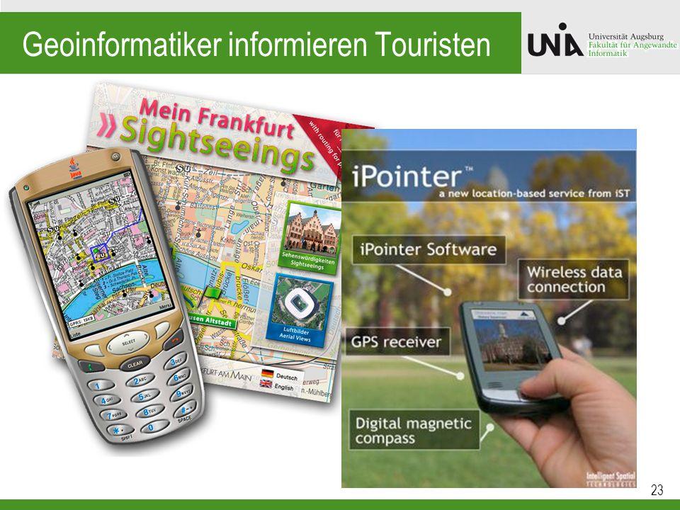 Geoinformatiker informieren Touristen