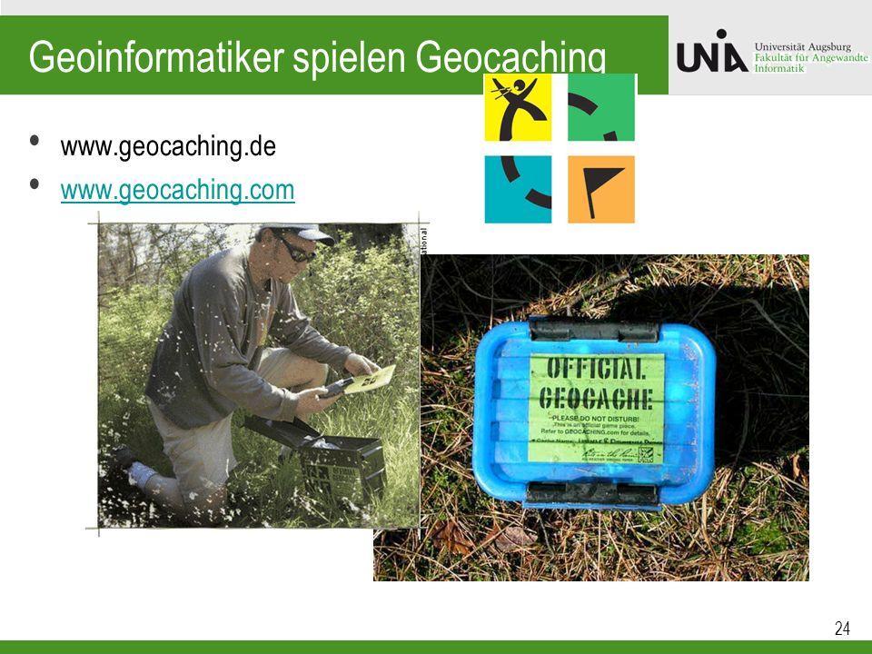 Geoinformatiker spielen Geocaching