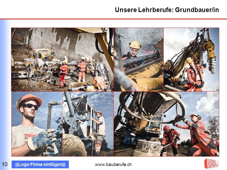 Unsere Lehrberufe: Grundbauer/in