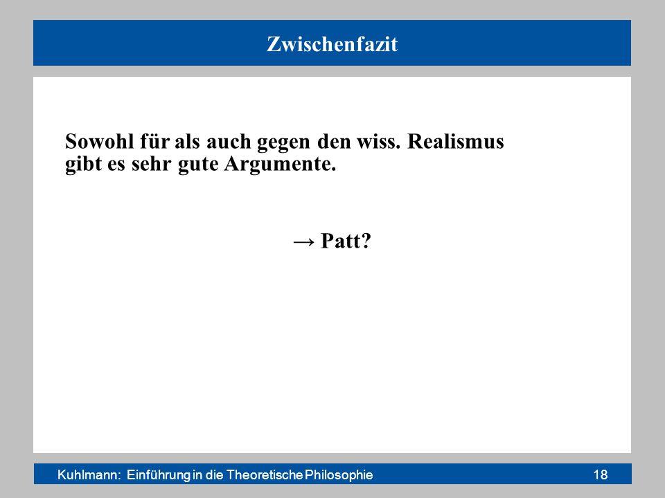 Kuhlmann: Einführung in die Theoretische Philosophie 18