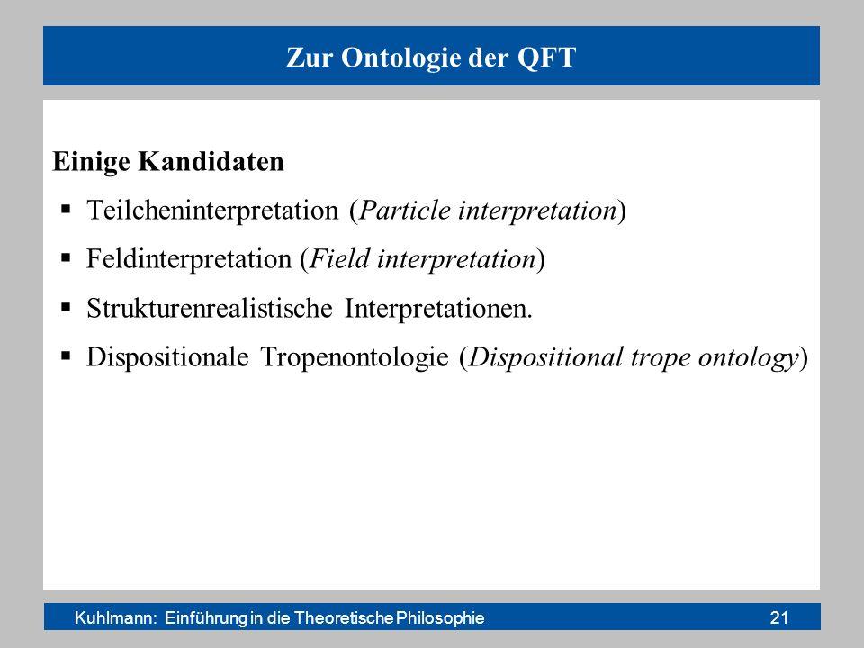 Kuhlmann: Einführung in die Theoretische Philosophie 21