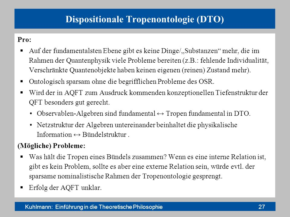 Dispositionale Tropenontologie (DTO)