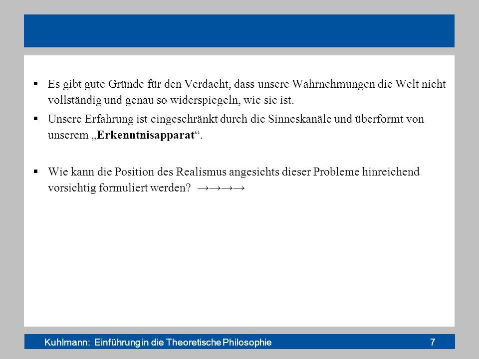 Kuhlmann: Einführung in die Theoretische Philosophie 7