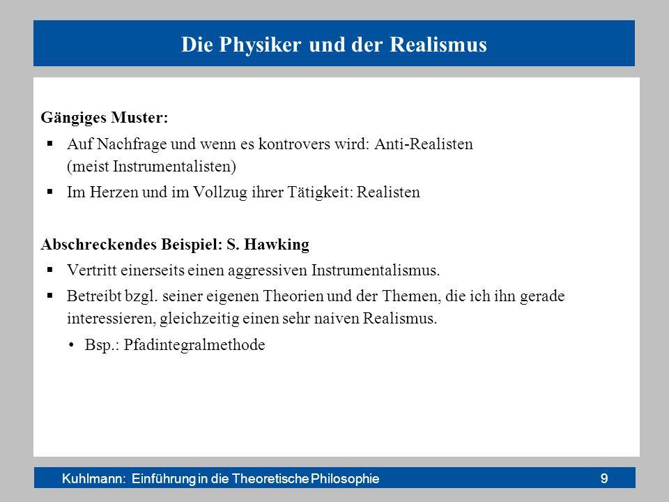 Die Physiker und der Realismus