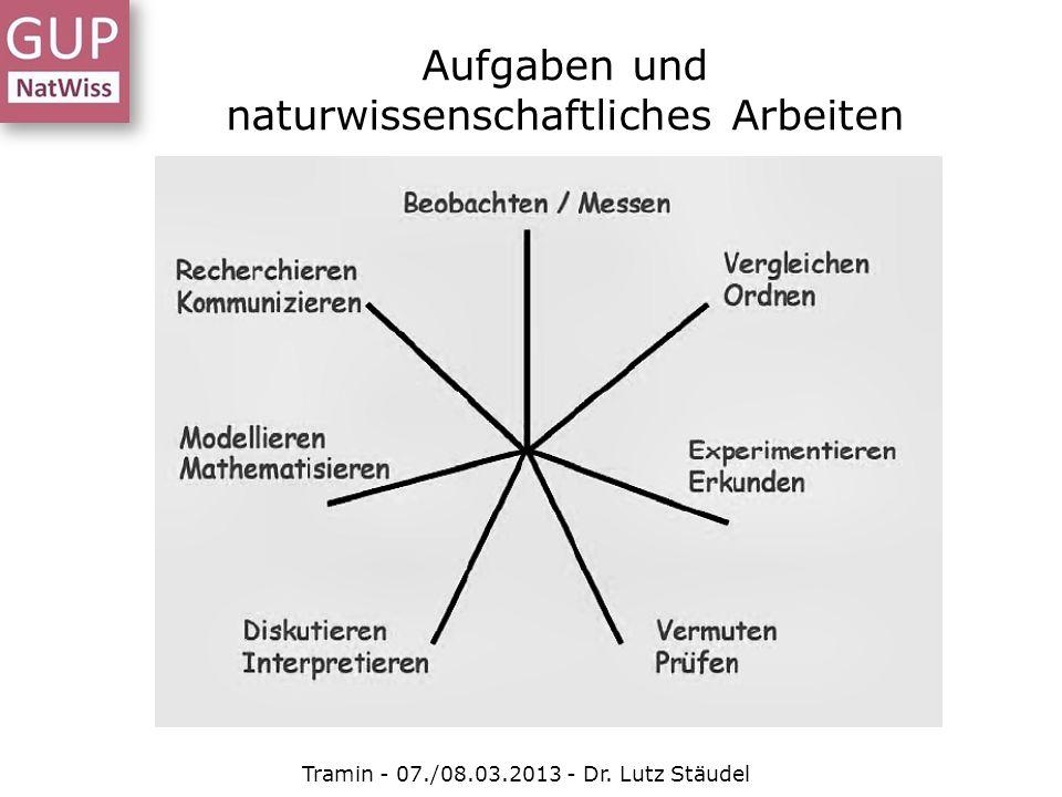 Aufgaben und naturwissenschaftliches Arbeiten