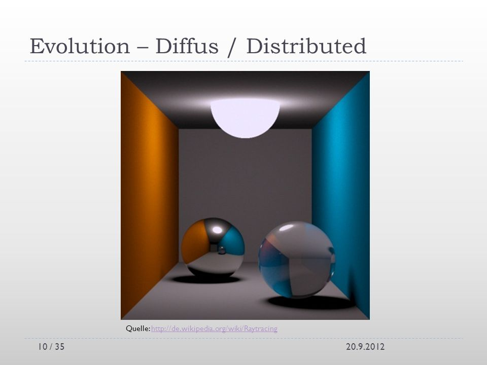 Evolution – Diffus / Distributed