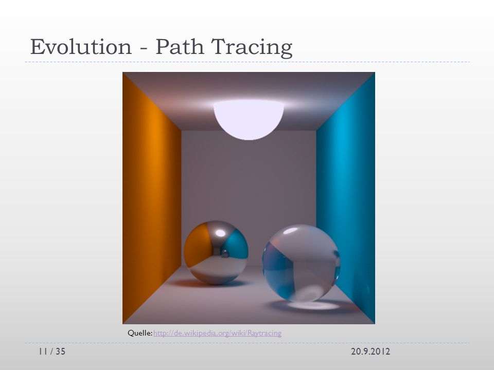 Evolution - Path Tracing