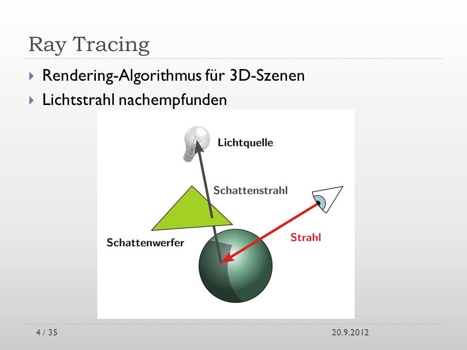 Ray Tracing Rendering-Algorithmus für 3D-Szenen