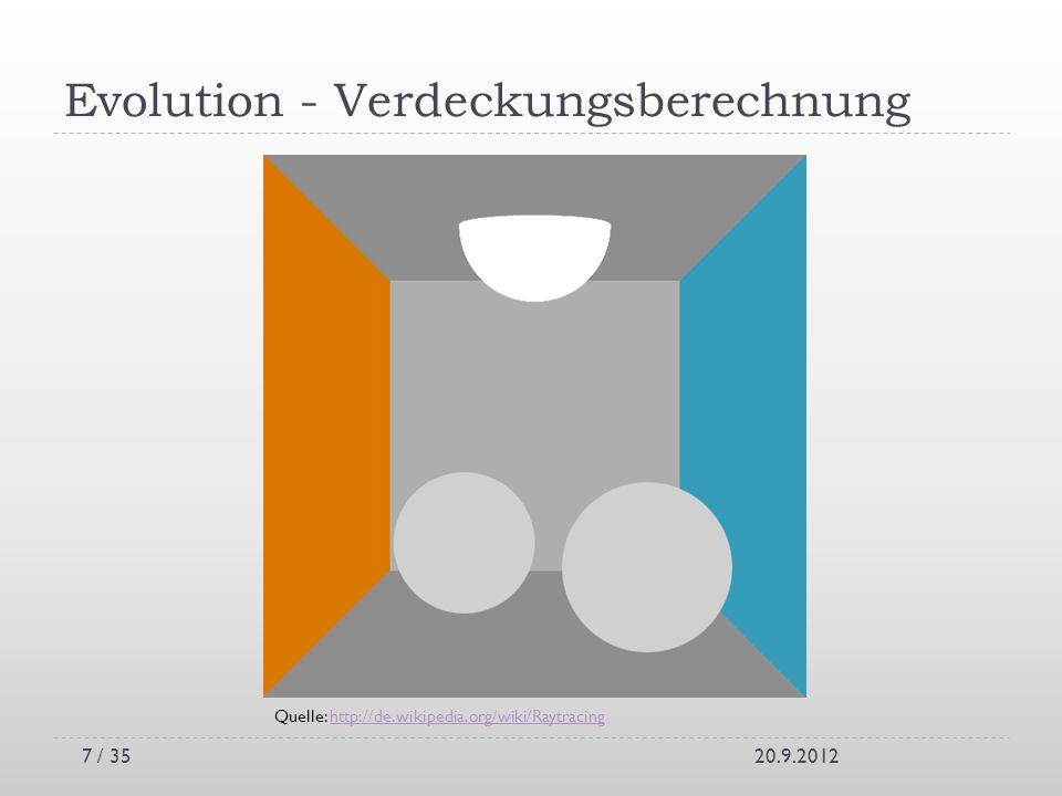 Evolution - Verdeckungsberechnung