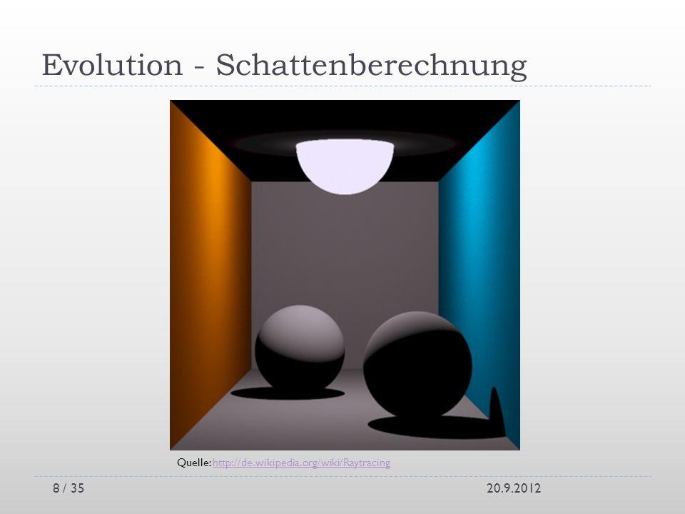 Evolution - Schattenberechnung