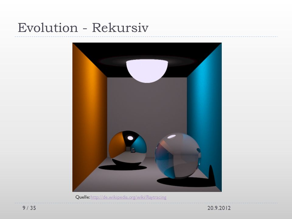 Evolution - Rekursiv