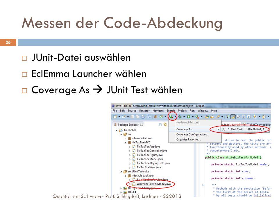 Messen der Code-Abdeckung