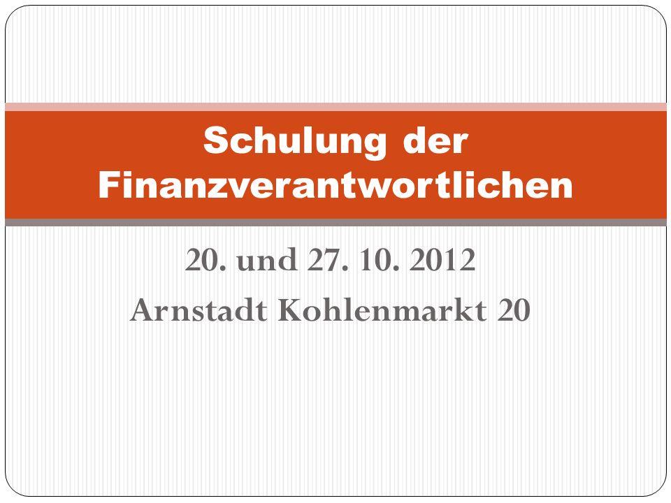 Schulung der Finanzverantwortlichen
