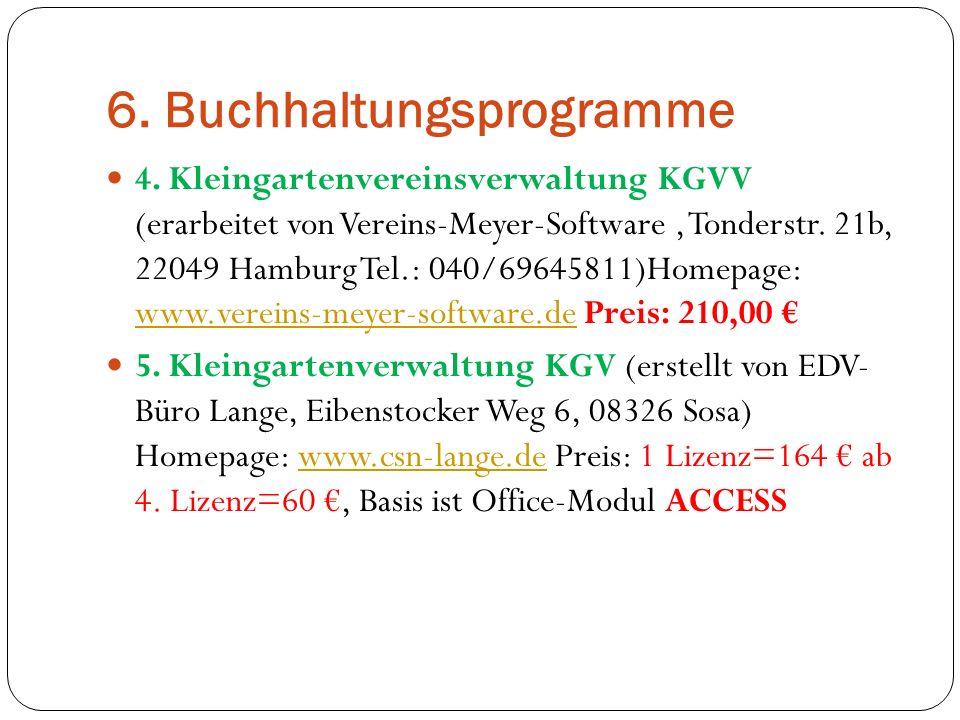6. Buchhaltungsprogramme