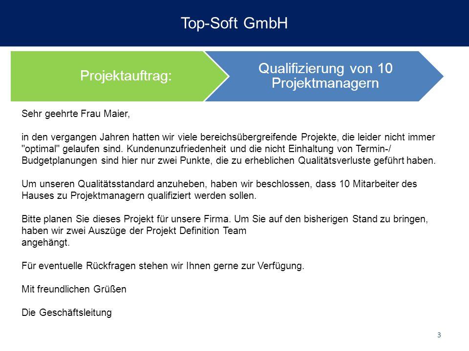 Qualifizierung von 10 Projektmanagern