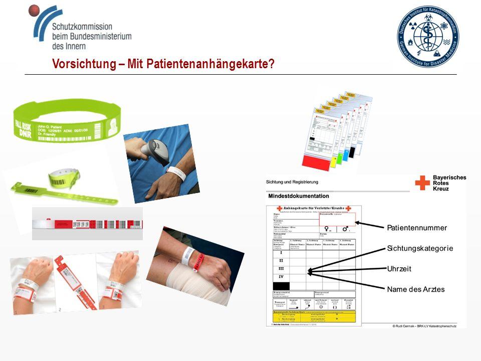 Vorsichtung – Mit Patientenanhängekarte