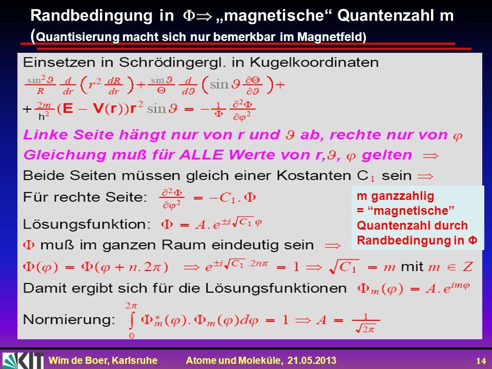 """Randbedingung in  """"magnetische Quantenzahl m"""