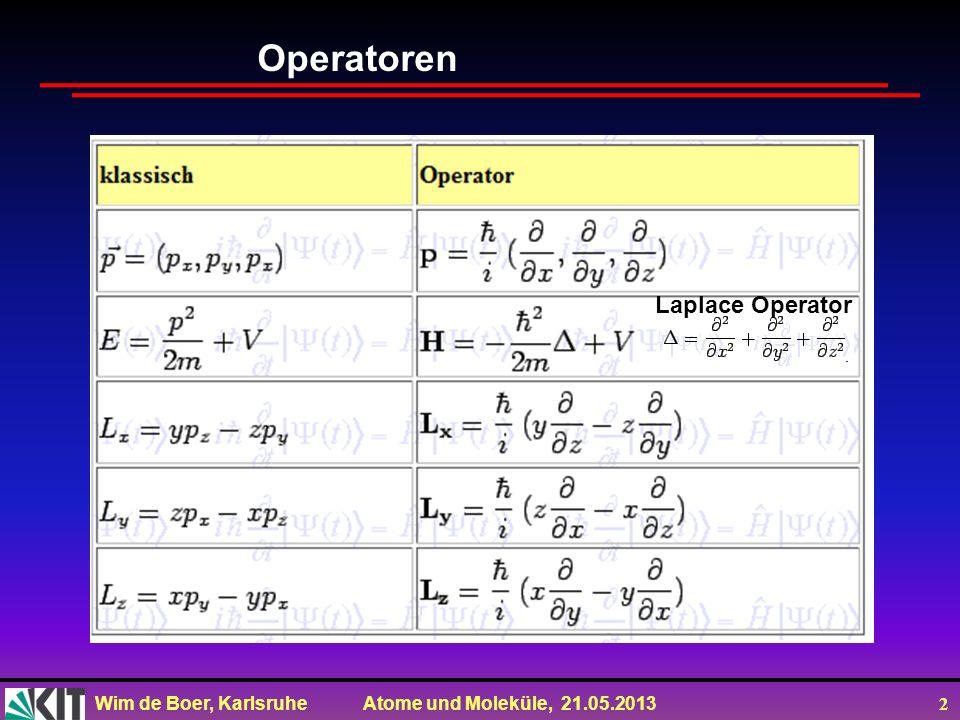 Operatoren Laplace Operator
