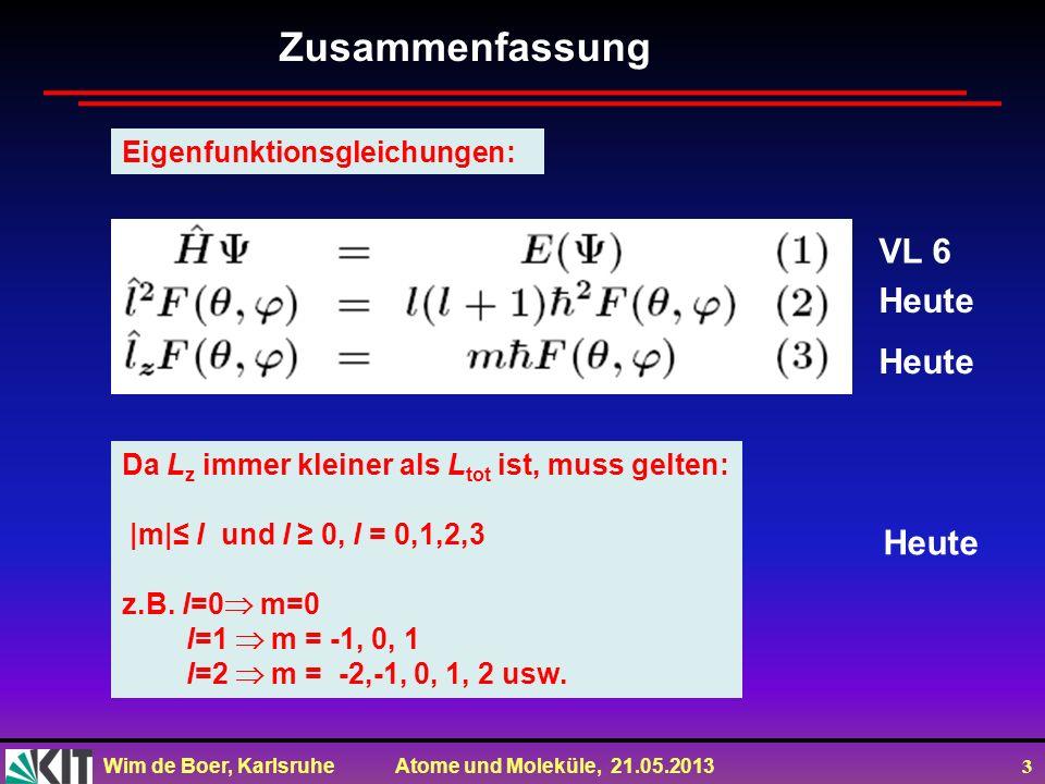 Zusammenfassung VL 6 Heute Heute Heute Eigenfunktionsgleichungen: