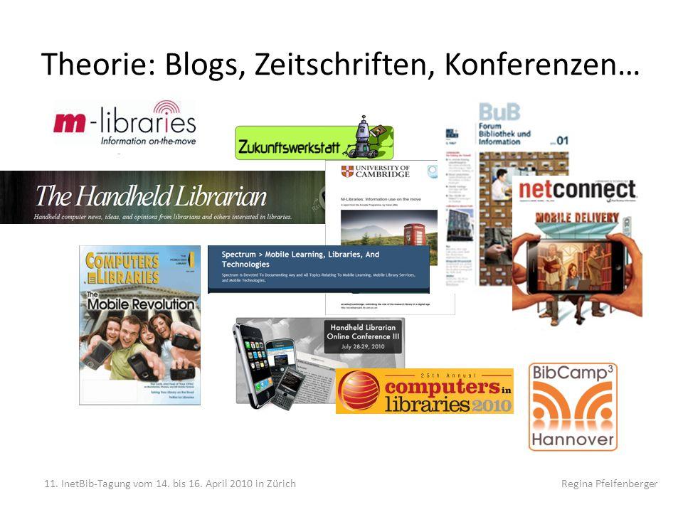 Theorie: Blogs, Zeitschriften, Konferenzen…
