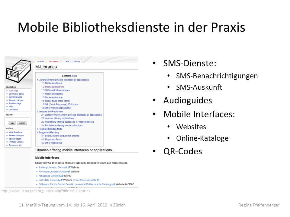 Mobile Bibliotheksdienste in der Praxis