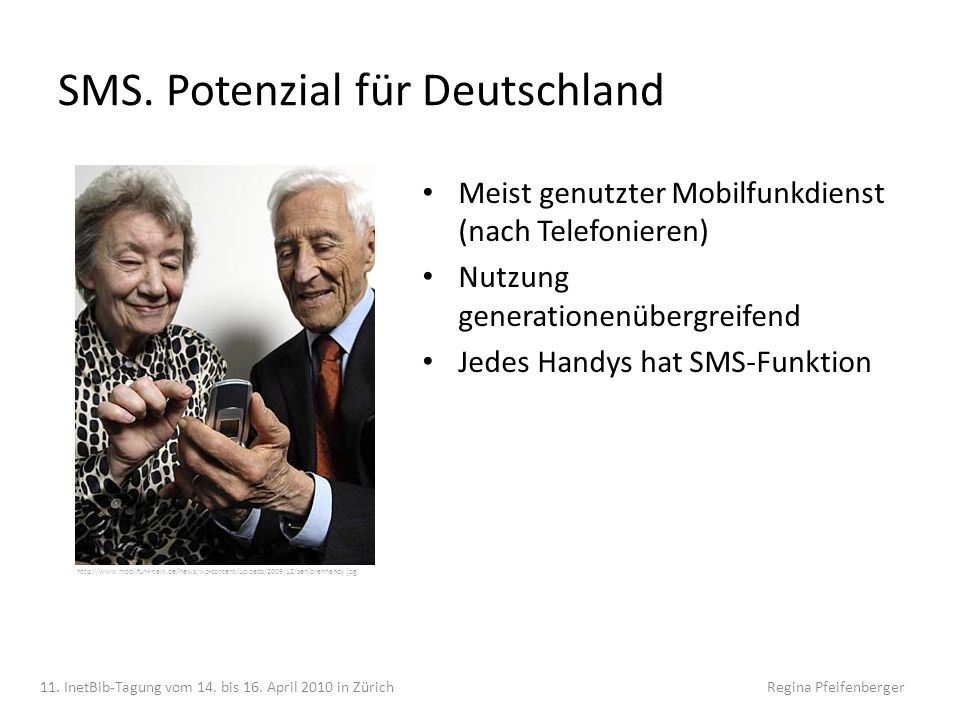 SMS. Potenzial für Deutschland