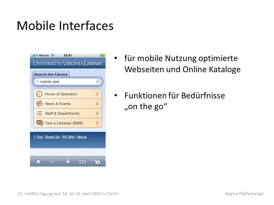 """Mobile Interfaces für mobile Nutzung optimierte Webseiten und Online Kataloge. Funktionen für Bedürfnisse """"on the go"""