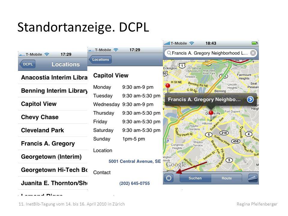 Standortanzeige. DCPL