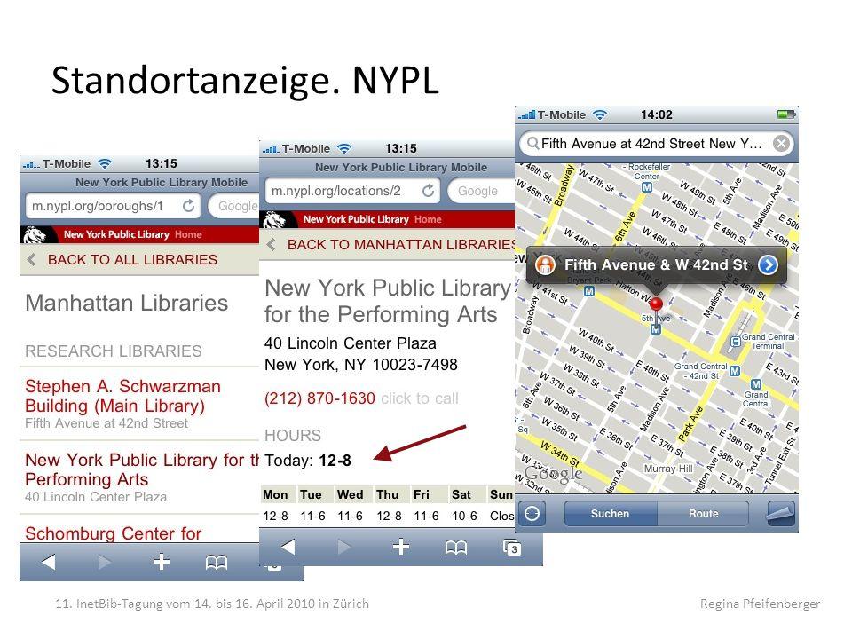 Standortanzeige. NYPL