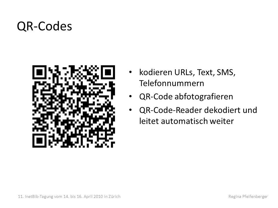 QR-Codes kodieren URLs, Text, SMS, Telefonnummern