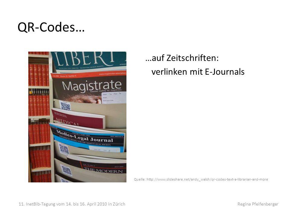 QR-Codes… …auf Zeitschriften: verlinken mit E-Journals