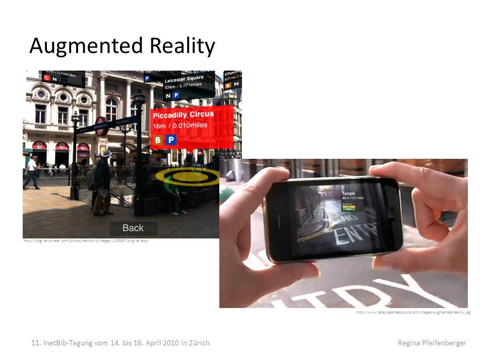 Augmented Reality Computergenerierte Zusatzinfos oder virtuelle Objekte. Audioguides, Leitsystem.
