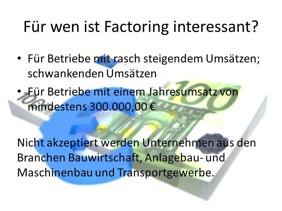 Für wen ist Factoring interessant
