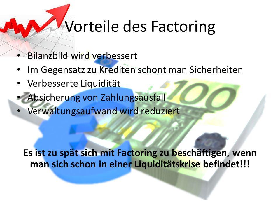 Vorteile des Factoring