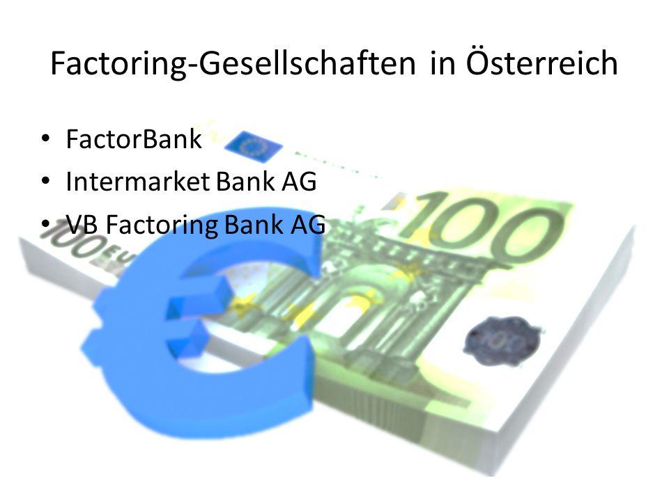 Factoring-Gesellschaften in Österreich