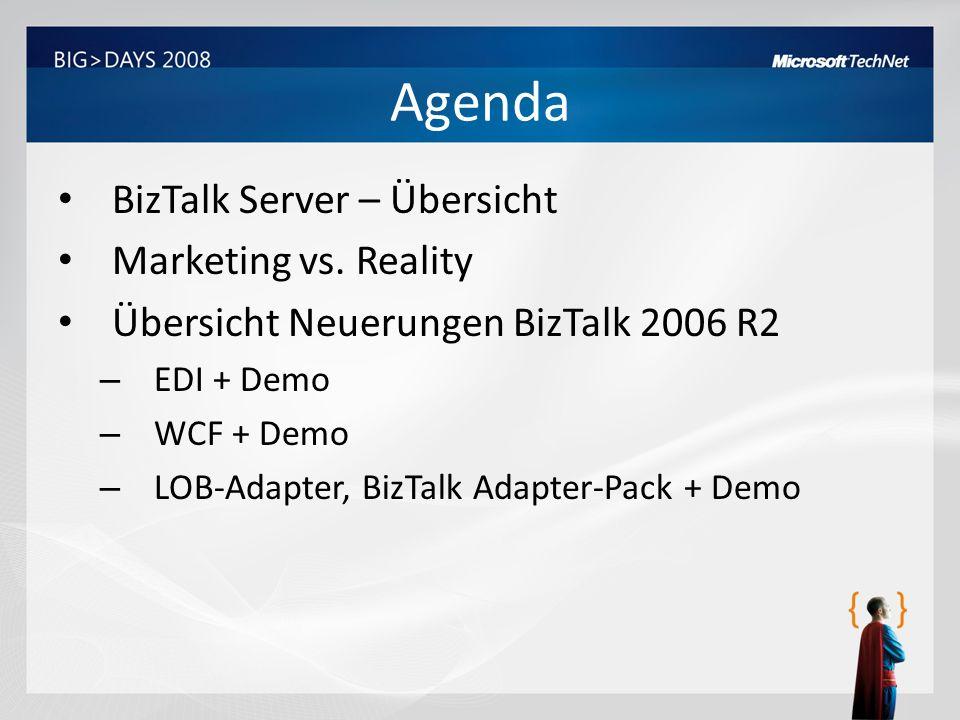 Agenda BizTalk Server – Übersicht Marketing vs. Reality