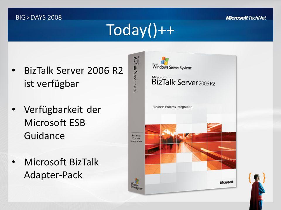 Today()++ BizTalk Server 2006 R2 ist verfügbar