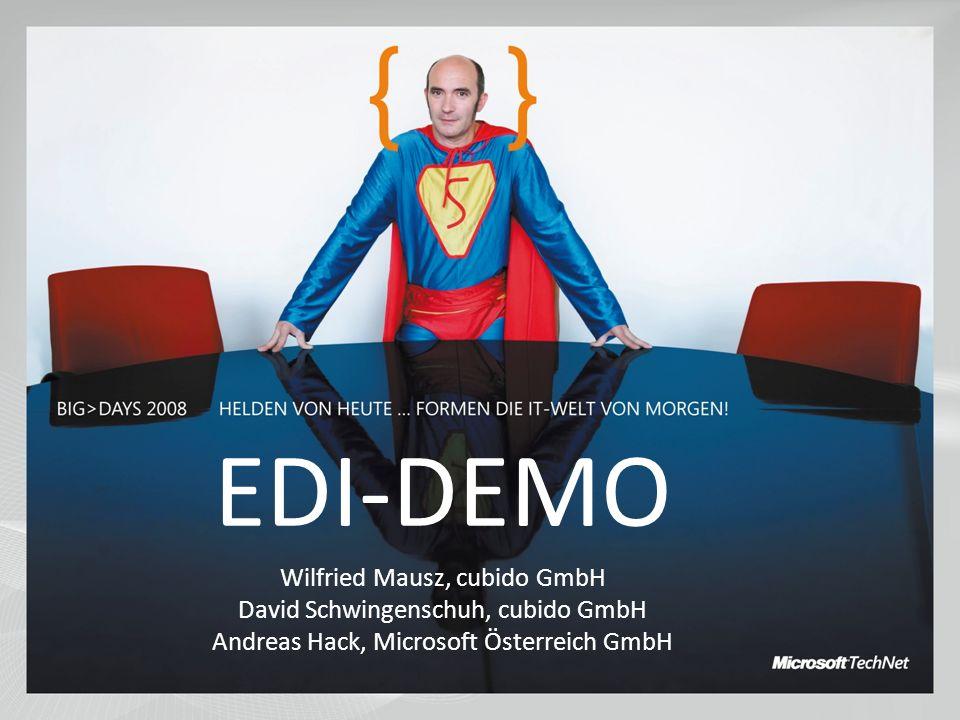 EDI-DEMO Wilfried Mausz, cubido GmbH David Schwingenschuh, cubido GmbH
