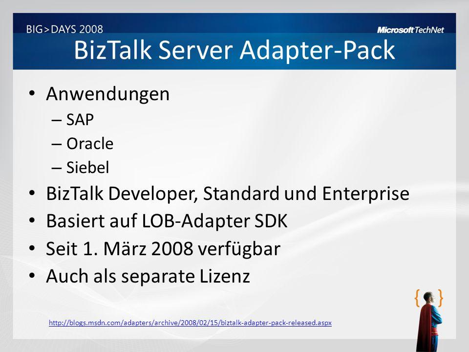 BizTalk Server Adapter-Pack