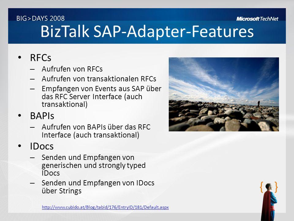 BizTalk SAP-Adapter-Features