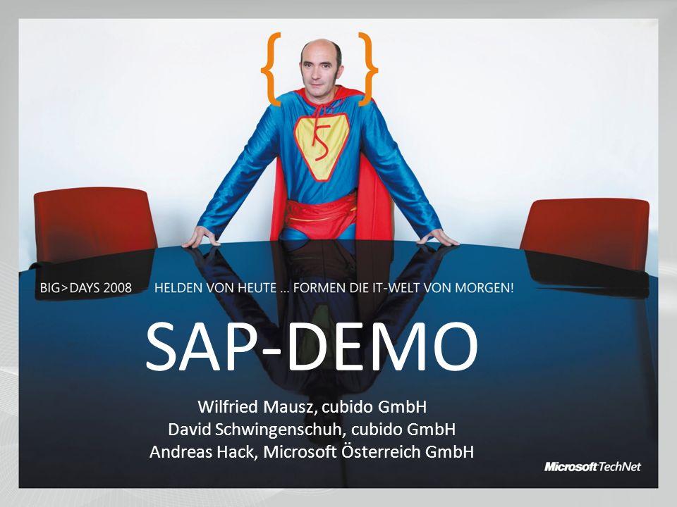 SAP-DEMO Wilfried Mausz, cubido GmbH David Schwingenschuh, cubido GmbH