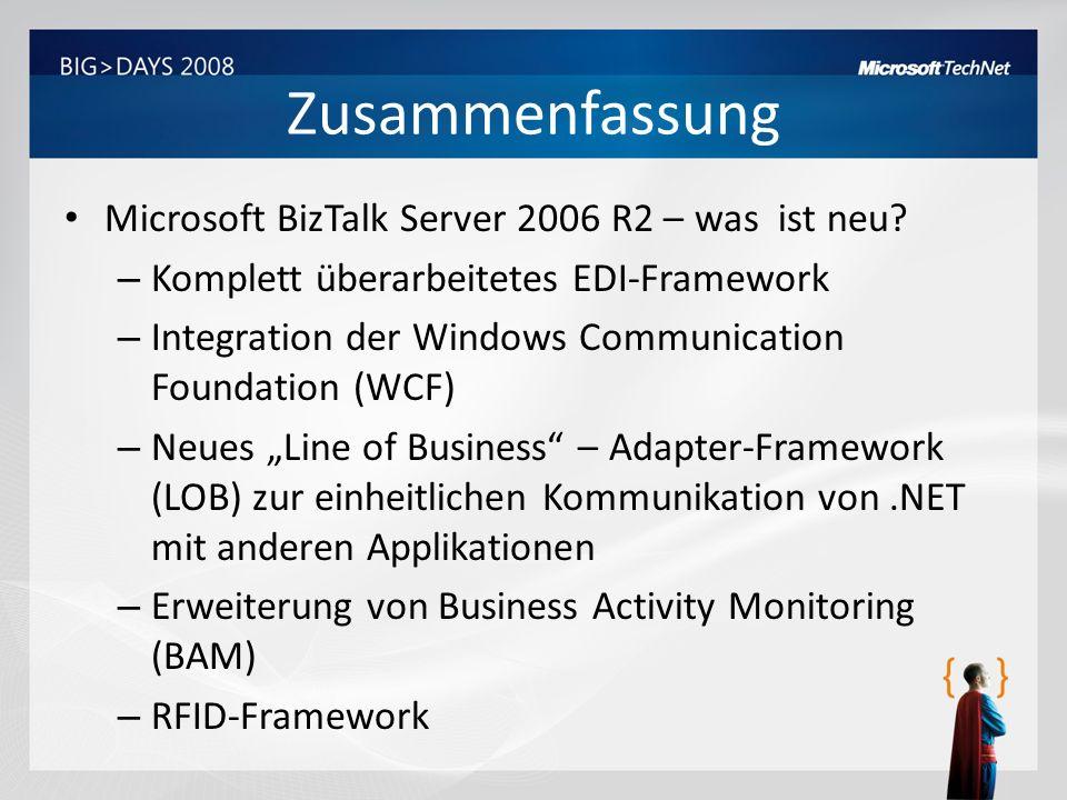 Zusammenfassung Microsoft BizTalk Server 2006 R2 – was ist neu