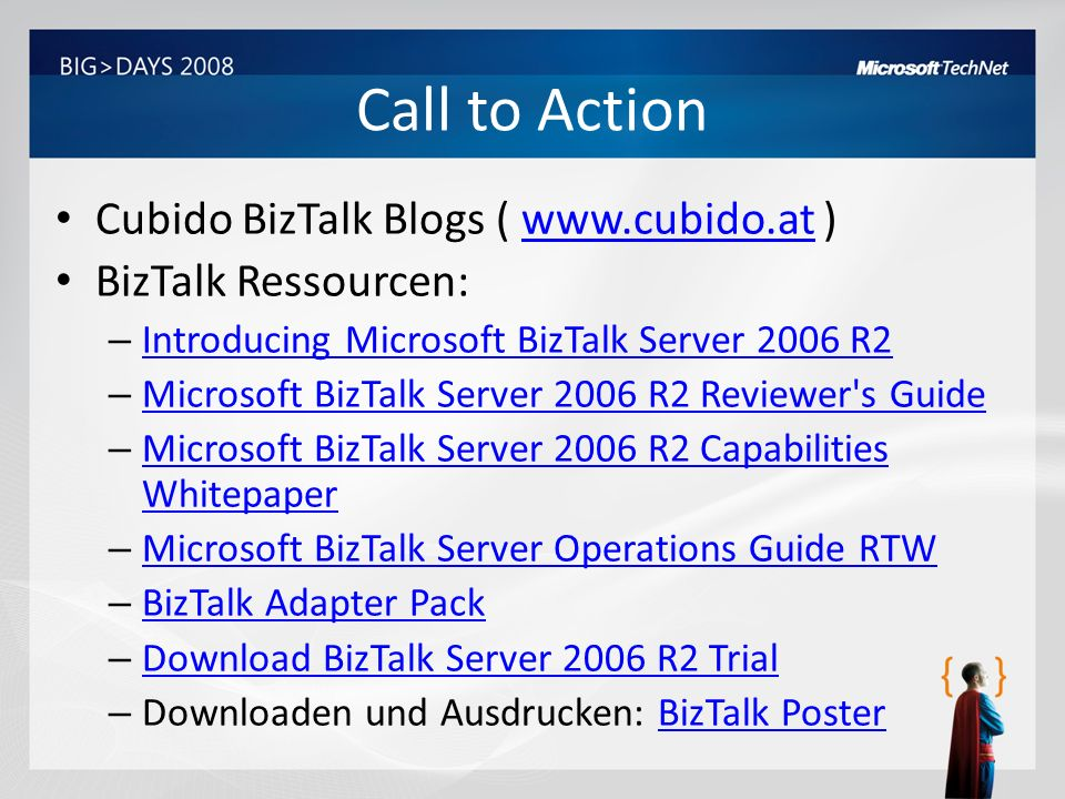 Call to Action Cubido BizTalk Blogs ( www.cubido.at )