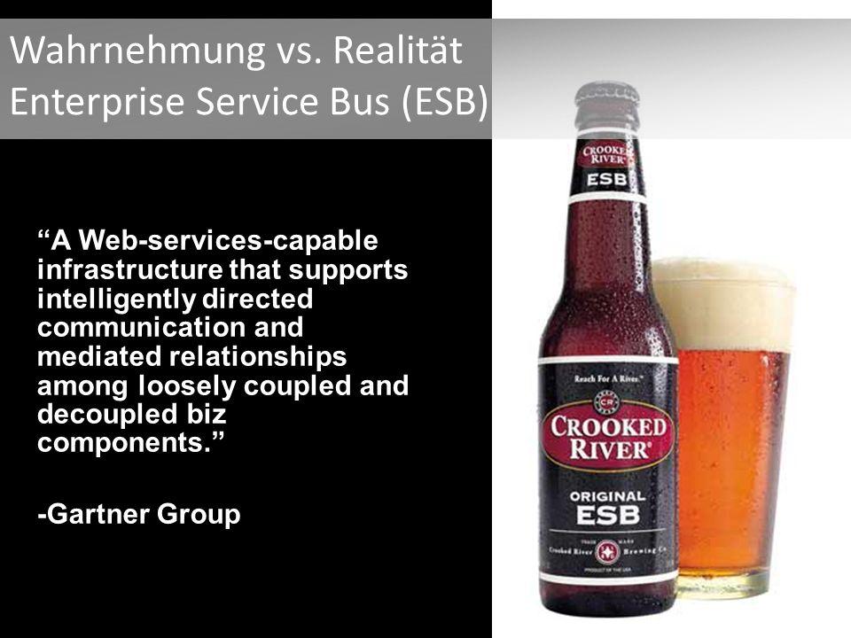 Wahrnehmung vs. Realität Enterprise Service Bus (ESB)