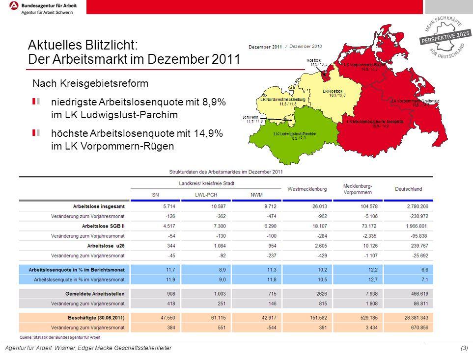 Aktuelles Blitzlicht: Der Arbeitsmarkt im Dezember 2011