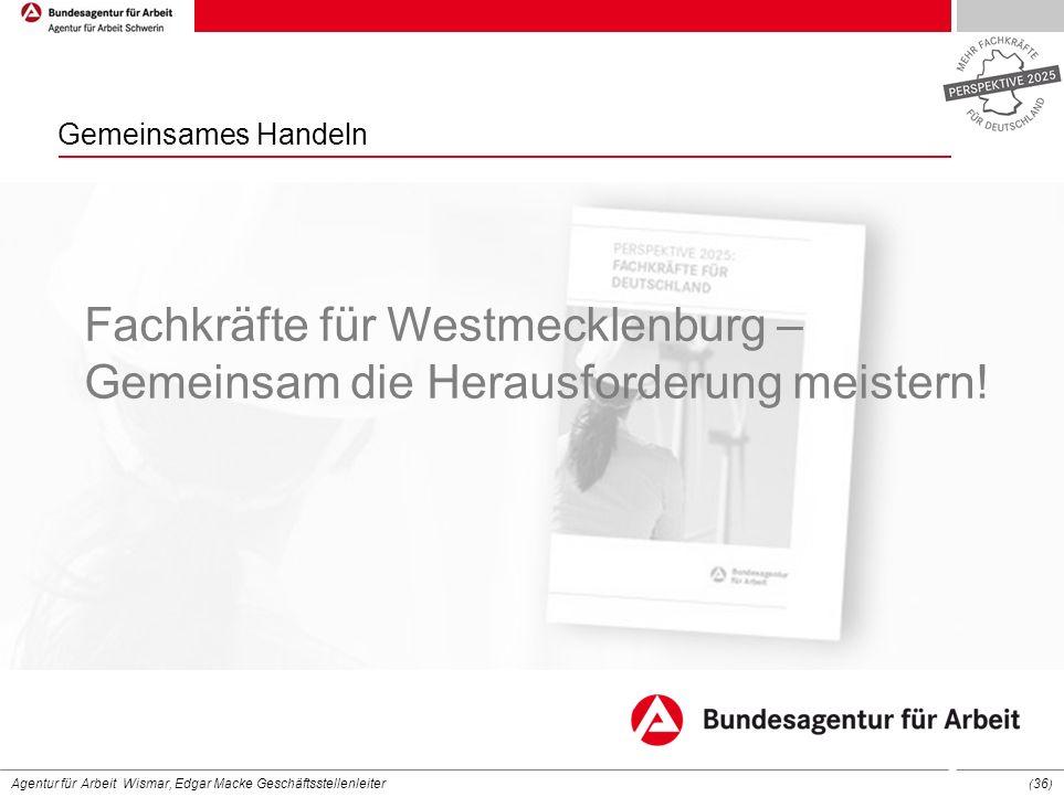 Gemeinsames Handeln Fachkräfte für Westmecklenburg – Gemeinsam die Herausforderung meistern!