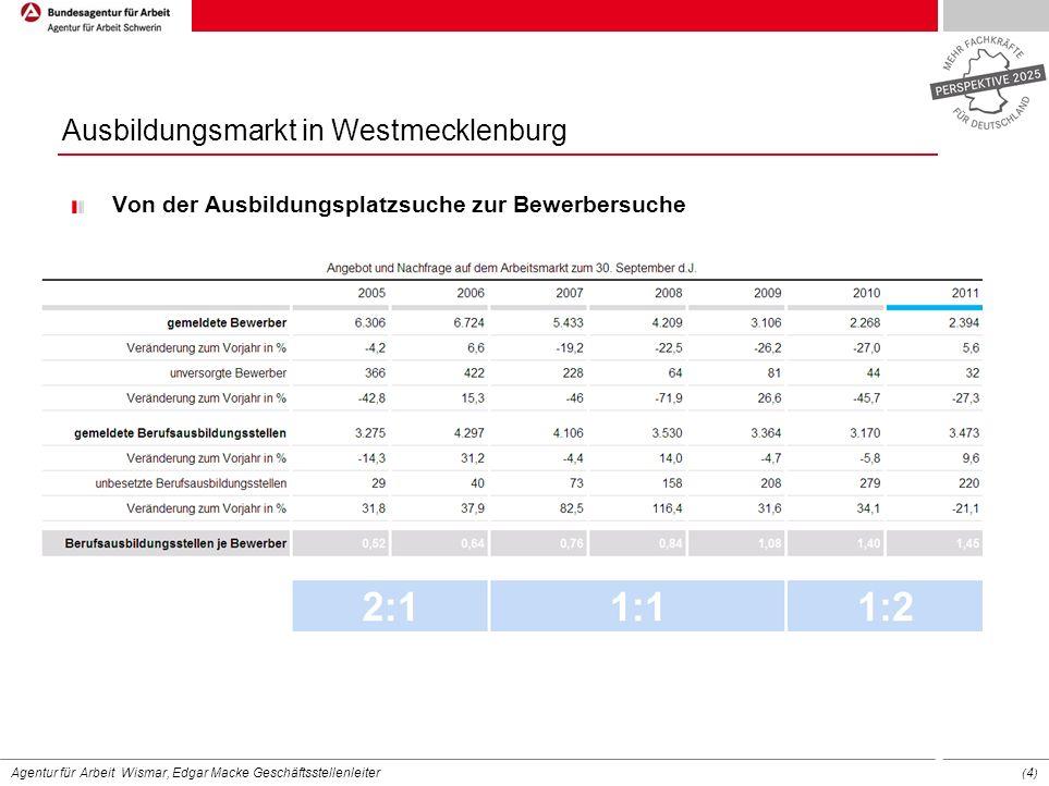 Ausbildungsmarkt in Westmecklenburg