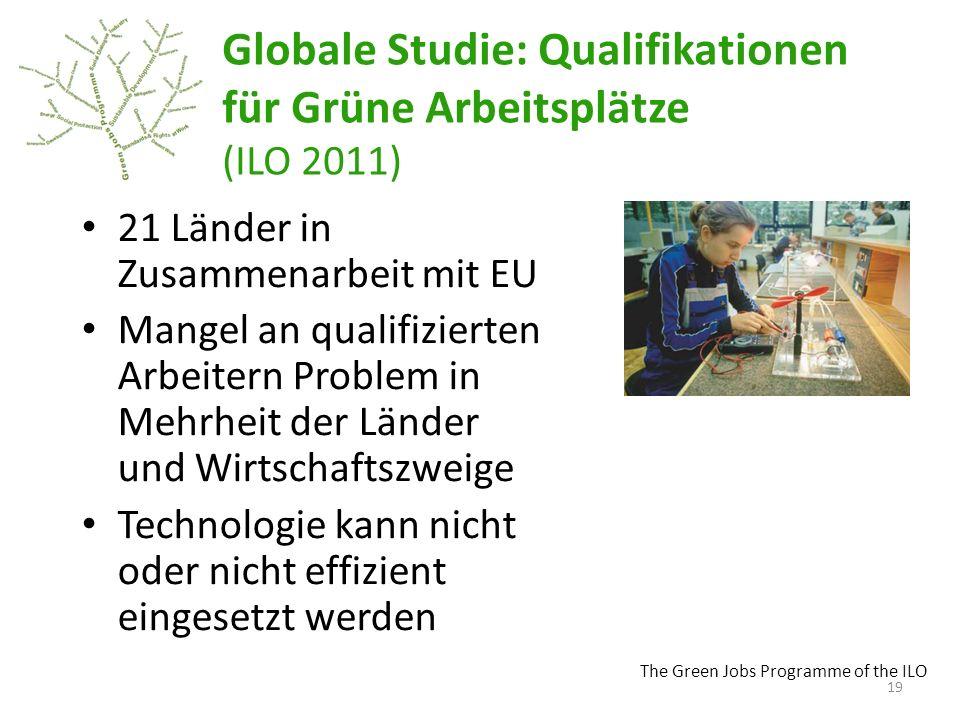 Globale Studie: Qualifikationen für Grüne Arbeitsplätze (ILO 2011)