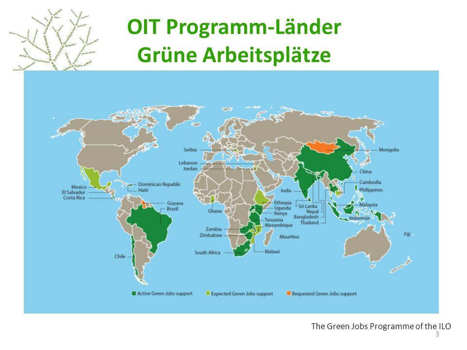 OIT Programm-Länder Grüne Arbeitsplätze